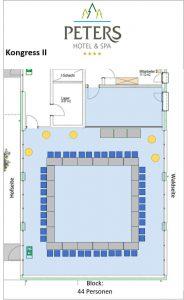 Raumplan - Kongress II - Block - Peters Wellness & Spa Homburg Jägersburg Saarland