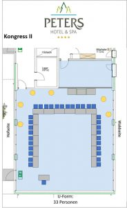 Raumplan - Kongress II - U-Form - Peters Wellness & Spa Homburg Jägersburg Saarland