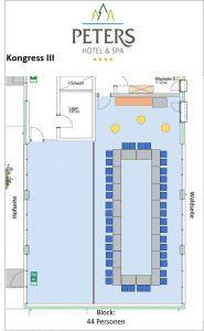Raumplan - Block - Stuhlreihen - Peters Wellness & Spa Homburg Jägersburg Saarland