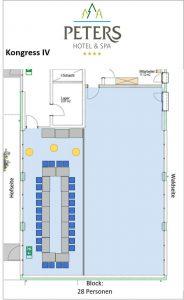 Raumplan - Kongress IV - Block - Peters Wellness & Spa Homburg Jägersburg Saarland