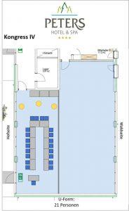 Raumplan - Kongress IV - U-Form - Peters Wellness & Spa Homburg Jägersburg Saarland