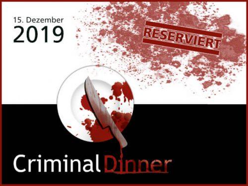 Criminal Dinner - Dezember 2019 - Peters Hotel&Spa